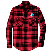 W668 - B117E021 - EMB - Plaid Flannel Shirt