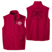 F219 - Buckeye SR-SR Pipestone Logo - EMB - Fleece Vest with Laser Etch Back